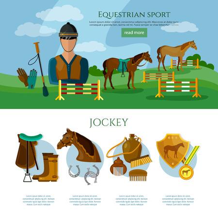 equestrian sport: Equestrian sport infographics professional jockey horse riding