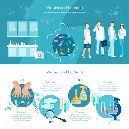analyses médicales en microbiologie infographies recherche médicale tube à essai des scientifiques et microscope faire de la recherche vecteur de laboratoire clinique