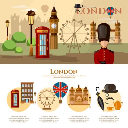 buckingham palace: London banner United Kingdom concept vector illustration Illustration