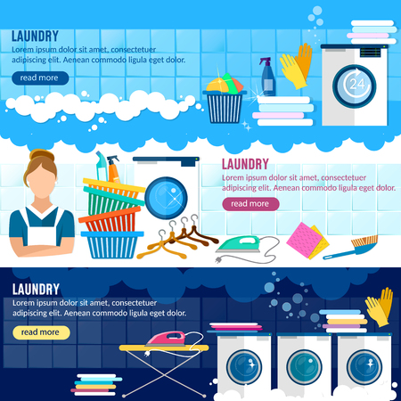laundry room: Laundry service banner, laundry room with facilities for washing clothes, laundry staff washing machine