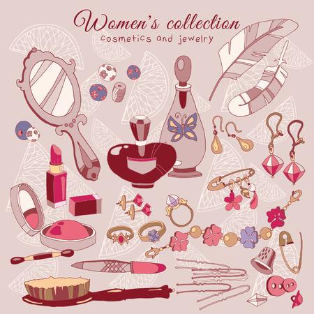 fashion accessories: Womens female fashion accessories accessories. Cosmetics, jewelery