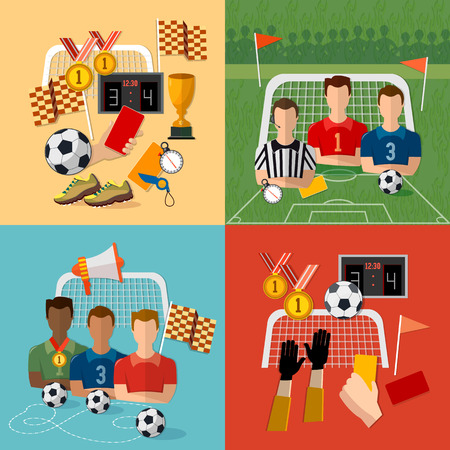 Soccer Icon Set Football Team Signs And Symbols Of Professional