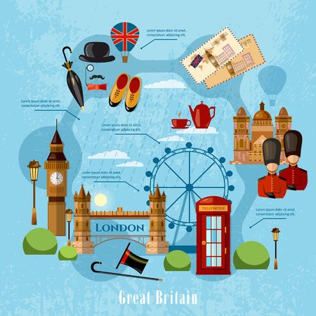 buckingham: Welcome to England, London concept. Travel to Great Britain, signs. United Kingdom vector