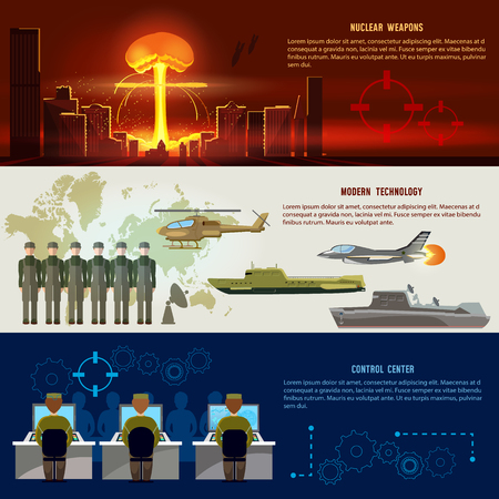 Nuclear war, weapons. Confrontation between the superpowers. Army aircraft, submarine, helicopter, rockets. Control center, nuclear attack on a city