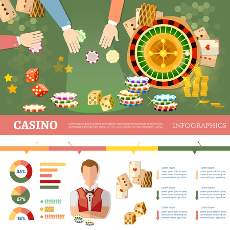 Casino Infographics People Play Casino Roulette Playing Cards.. Royalty Free Cliparts, Vectors, And Stock Illustration. Image 77160525. - 웹