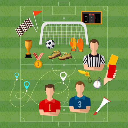 Soccer Football Team Signs And Symbols Elements Of Professional