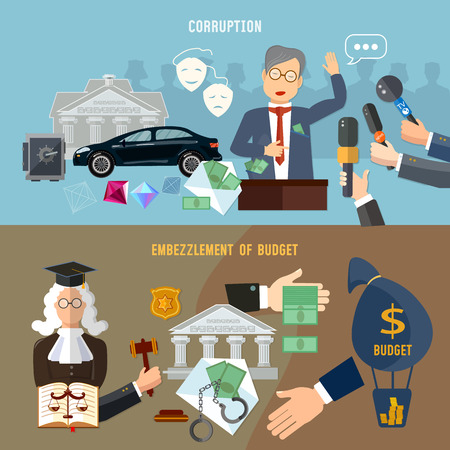 Anti-corruption fight stealing money from budget. Corruption deceitful politician, campaign promises, bribes. Theft of public money, false politicians, elections, compromising evidence