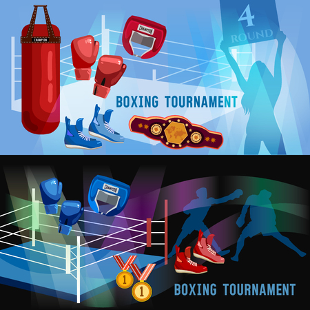 Boxing sports concept 일러스트