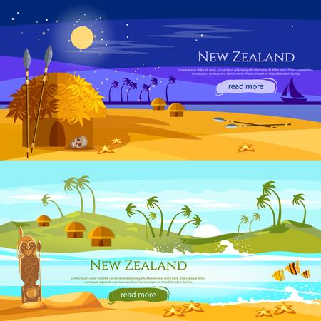Traditie en cultuur in Nieuw-Zeeland Vector Illustratie