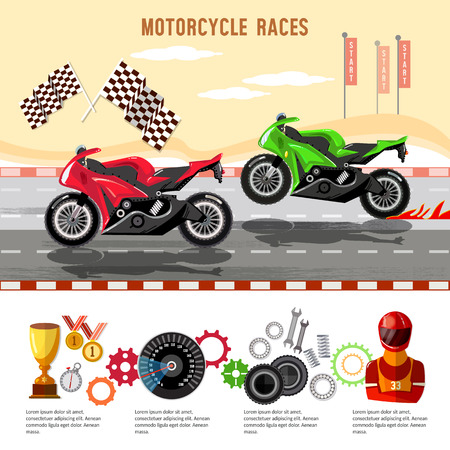Motorcycle races infographic