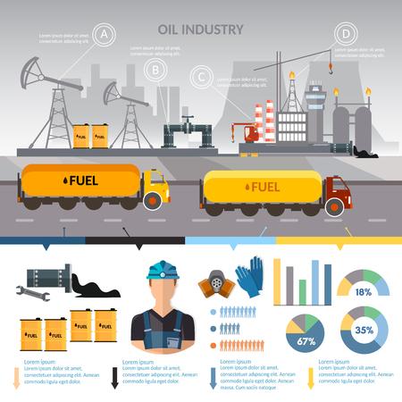 石油業界インフォ グラフィック ベクトル抽出加工石油石油製品搬送