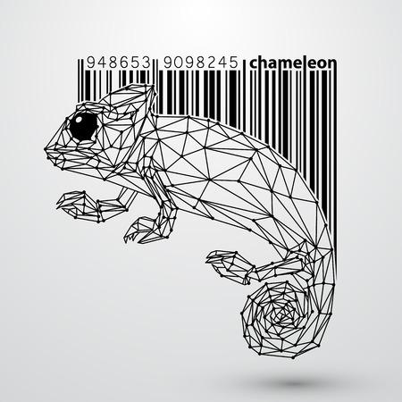 chameleon: Chameleon triangles Illustration