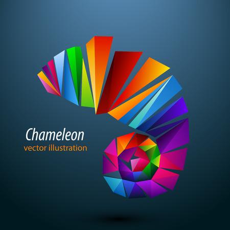 Triangles Chameleon Banque d'images - 64070780