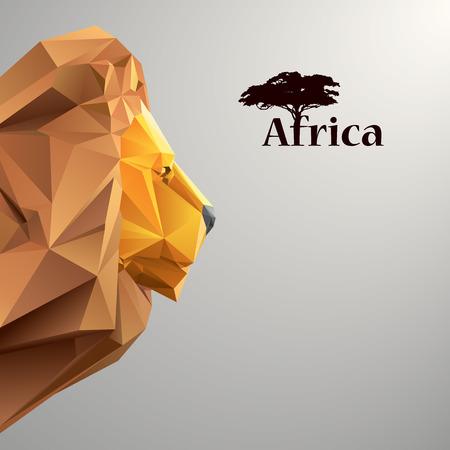 ライオンの折り紙