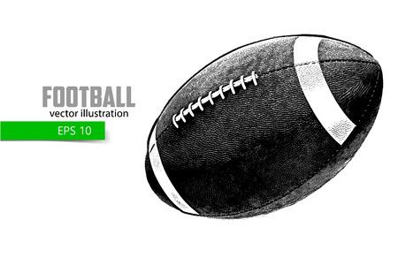サッカー ボールのシルエット。別のレイヤーの背景とテキスト色をワンクリックで変更できます。
