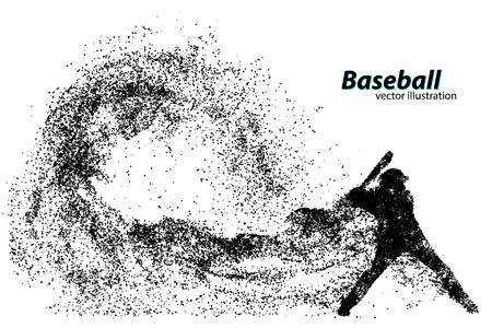 Silhouette d'un joueur de baseball de particule. Texte sur un calque séparé, la couleur peut être changée en un clic Banque d'images - 67503146