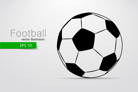 silhouette of a soccer ball. Text and background on a separate layer, color can be changed in one click. Stock Vector - 69115246