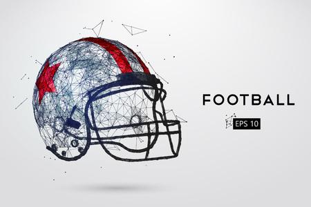 concussion: American Football Helmet in black. Vector illustration