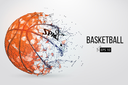 Silhouette of a basketball ball. Vector illustration Çizim
