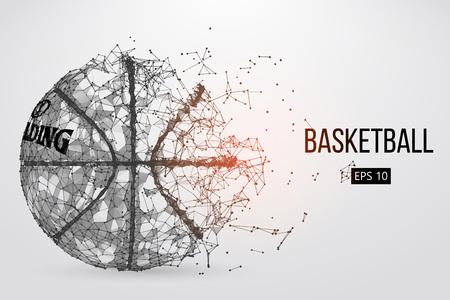 Silhouet van een basketbal bal. Vector illustratie