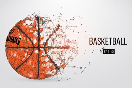 Silhouette of a basketball ball. Vector illustration Illustration