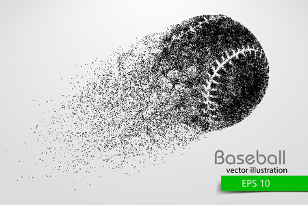 silhouette of a baseball ball. Vector illustration Çizim