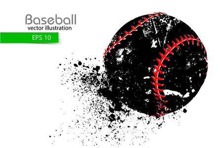 silhouette of a baseball ball. Vector illustration Illustration