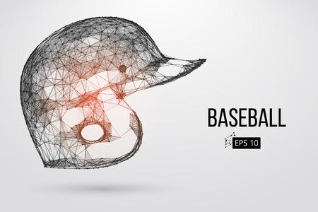 Silhouette of a baseball helmet. Vector illustration Illustration
