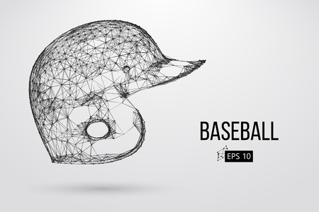 Silhouette of a baseball helmet. Vector illustration Illustration