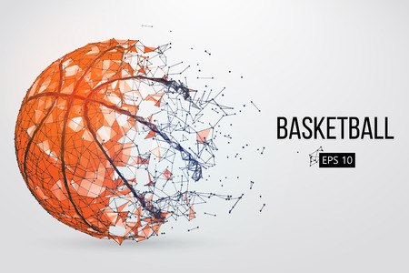 Silhouette of a basketball ball. Vector illustration Ilustração