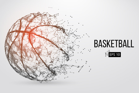 Silhouette of a basketball ball. Vector illustration 向量圖像