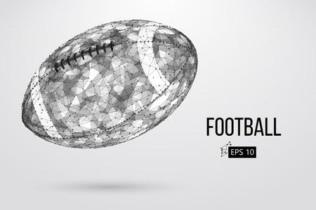 Silhouette of a footballl ball. Vector illustration
