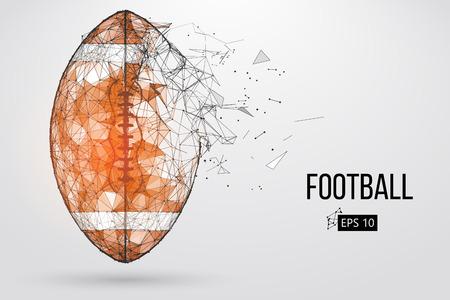 Silhouette of a footballl ballm in brown Vector illustration Illustration