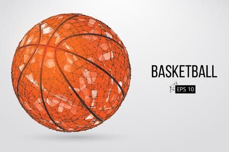 Silhouet van een basketbalbal. Vector illustratie