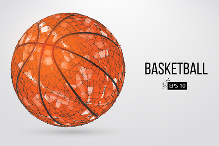 Silhouette of a basketball ball. Vector illustration Illustration