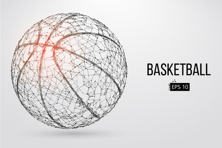 Silhouette of a basketball ball. Vector illustration Stock Illustratie