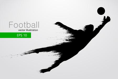 サッカー選手のシルエット。ベクトル図