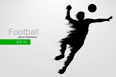 silhouette of a football player. Vector illustration Stock Vector - 75071360