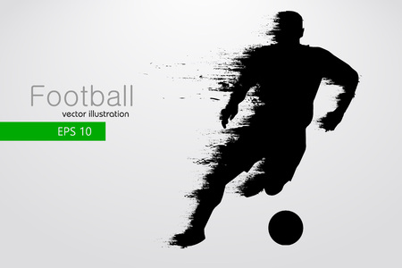 silhouette of a football player. Vector illustration Vettoriali