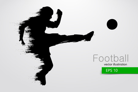 silhouette of a football player. Vector illustration Stock Illustratie