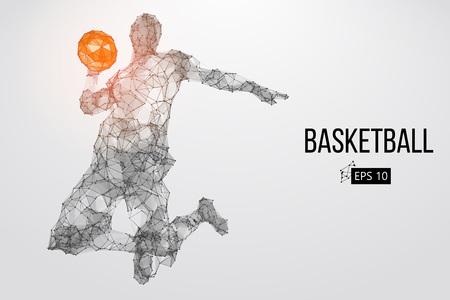 Silhouette of a basketball player. Vector illustration 版權商用圖片 - 76581514