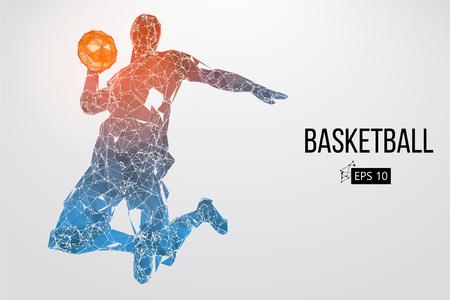 Silueta de un jugador de baloncesto. Ilustración del vector