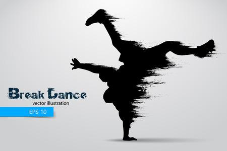 Silhouette einer Pause Tänzerin aus Partikeln. Vektor-Illustration Standard-Bild - 77904631