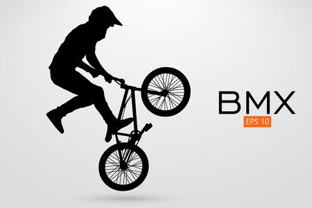 Silhouette d'un cycliste BMX. Illustration vectorielle