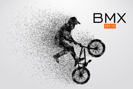 Silhouette eines BMX-Reiters. Vektor-Illustration Standard-Bild - 78740248