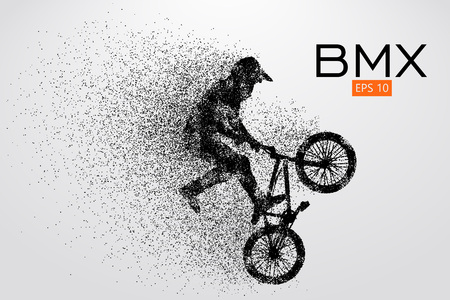 Silhouette of a BMX rider. Vector illustration Stok Fotoğraf - 78740248