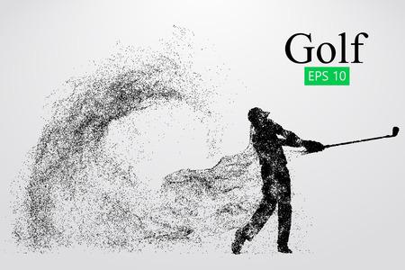 Silhouet van een golfspeler. Vector illustratie