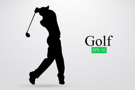 Silhouette of a golf player. Vector illustration Stok Fotoğraf - 78758561