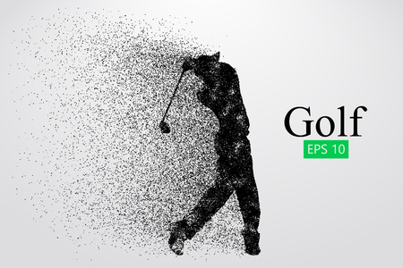 Silhouette golfista. Ilustracji wektorowych Ilustracje wektorowe
