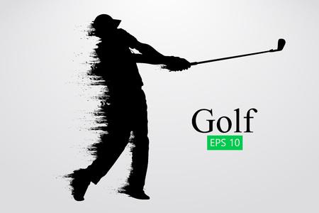 골프 선수의 실루엣입니다. 벡터 일러스트 레이 션 일러스트